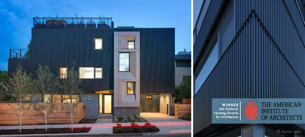 "The AIA Housing Award for ""Park Passive"" house with FAKRO skylights"