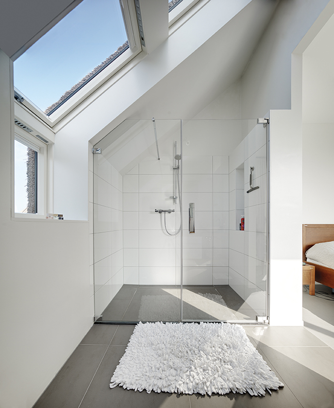 Interiors in the attic - Bathroom